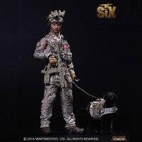 U. s. темно Уплотнители шесть команда коммандос 1/6 солдаты Модель Набор с собакой Фигурки героев подарок коллекция