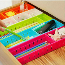 DIY Регулируемый ящик коробка Хлопушка ящик Органайзер с разделителем для хранения