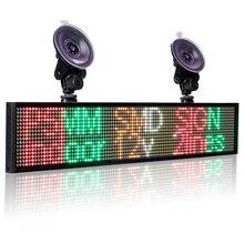 12 v p5mm smd carro led programa de rolagem sinal multi cor táxi publicidade negócio cor display board + 2 otário