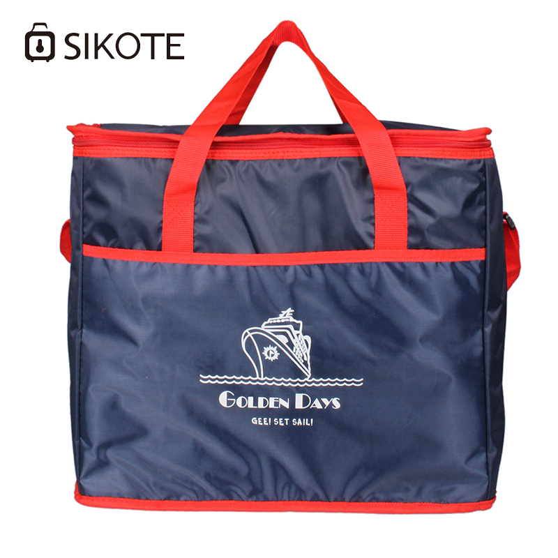 SIKOTE 38L Extra Large Thickening Cooler Bag Ice Pack Insulated Lunch Bag Cold Storage Bags Fresh Food Picnic Container large 34l insulated picnic bag lunch bag outdoor camping hiking picnic bags portable food storage basket handbags lunch box