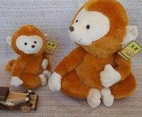 高品質の商品、ライトブラウンいたずら猿ぬいぐるみ、クリスマスギフトh47