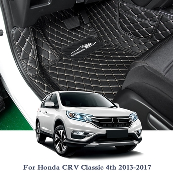 Car Styling Car Floor Mat For Honda CRV Classic 4th 2013-2017 5Seat LHD Auto Foot Pad Automobile Carpet Cover Internal Accessory