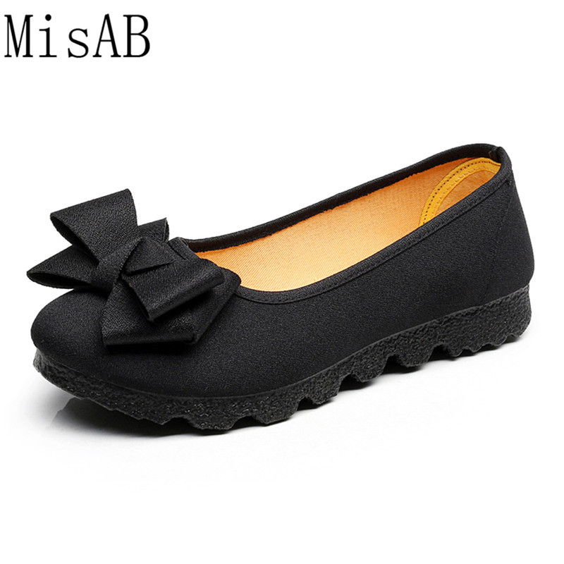 2018 Women Flats Casual shoes for women bowtie autumn spring woman flat shoes breath soft bottom footwear leisure outdoor shoes