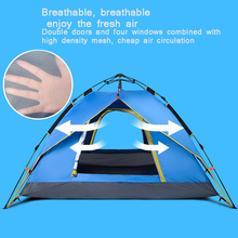 лучшая цена Ultralight Outdoor Tent Fully Automatic Single Double Rain Camping Camping Tent Beach Fishing Can Accommodate 3~4 People