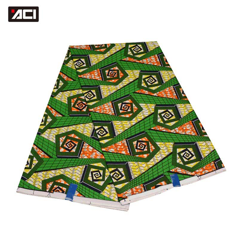 ACI Green Hollandais Wax High Quality Super Wax Hollandais 2018 Dutch Wax African Wax Hollandais Hot Sale Design For Women Dress