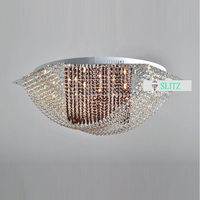 2 color Hexagon LED ceiling lights for Dining Room bedroom post modern Surface Mounted home led Lamparas De Techo crystal lights