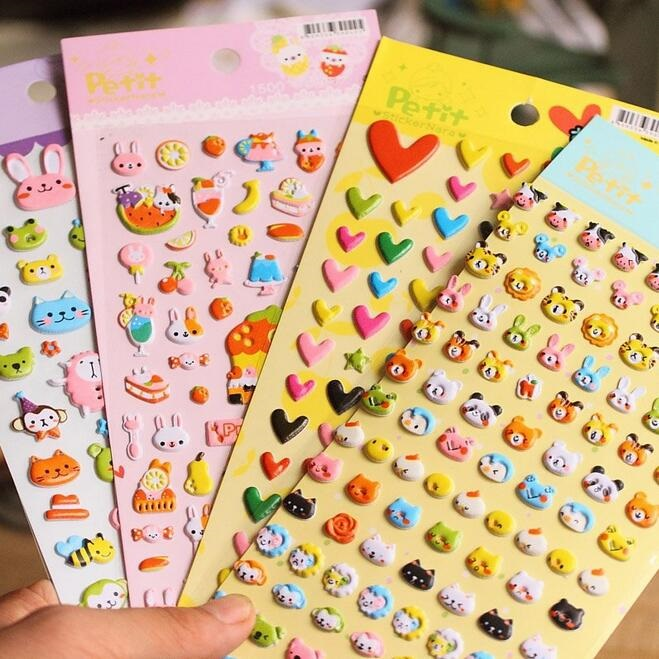 1packs/lot Cartoon 3D Animal Kingdom series sticker Decoration label scrapbooking stickers office school supplies