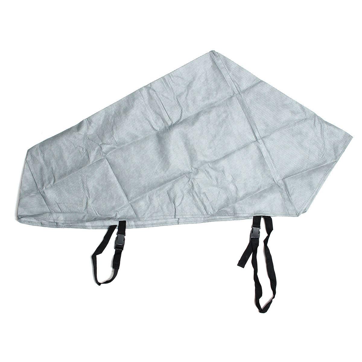 Grey Waterproof Caravan Tailer Towing Hitch Coupling Lock Cover Reflective Coating Material Rain Dust Protect