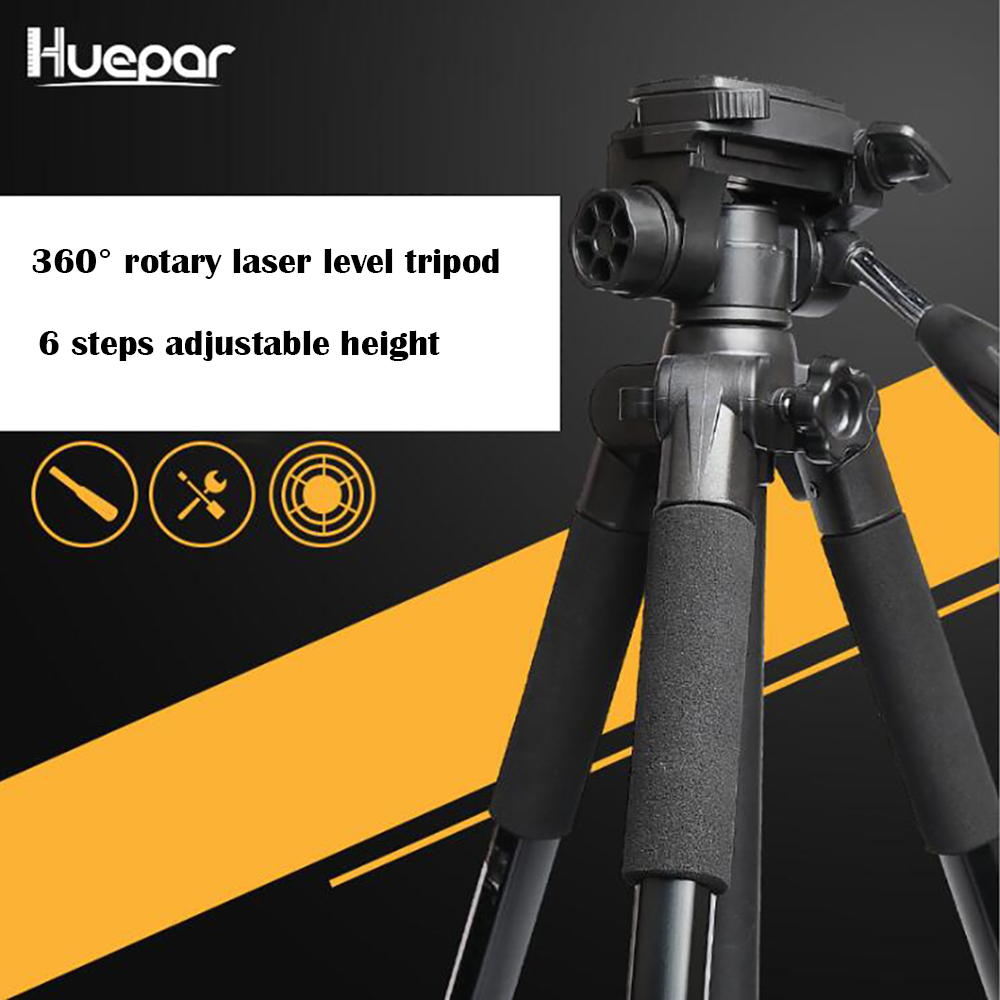 Huepar Multi function Adjustable Height thicken aluminum laser level tripod 4 and 5 8