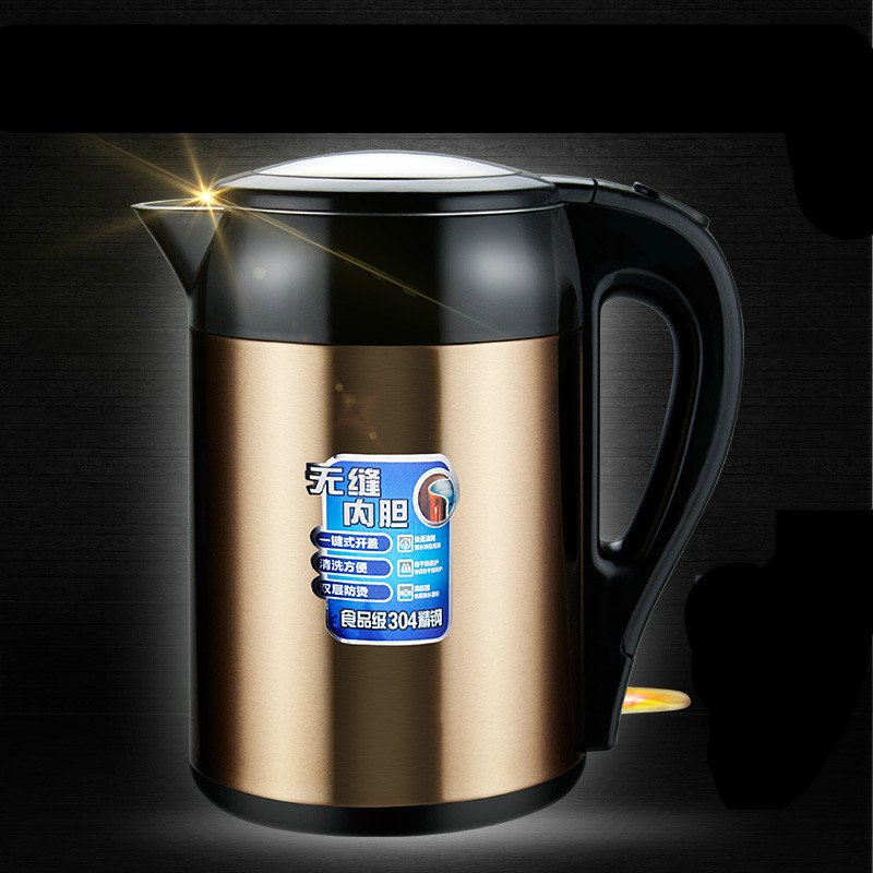 Electric kettle household automatic power failure 304 stainless steel electric Safety Auto-Off Function electric heating kettle household 304 stainless steel fast automatic power safety auto off function