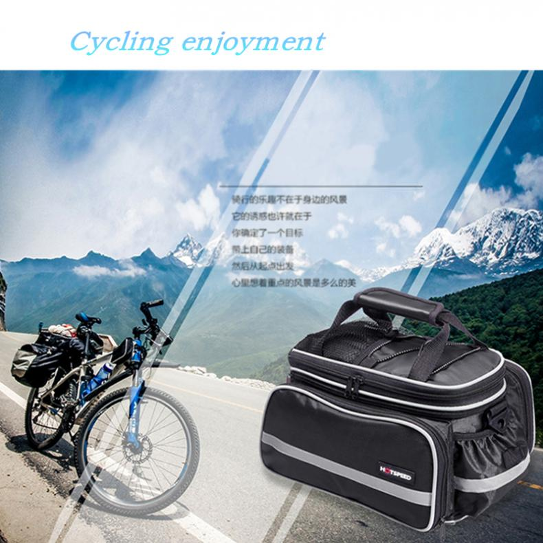 Convertible Bicycle Bag Road Mountain <font><b>Bike</b></font> Rear Seat Rack Cargo <font><b>Carrier</b></font> Container Bag with Rainproof Cover Bicycle <font><b>Accessories</b></font> image