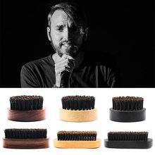 6 Styles Professional Men Beard Brush Men Beard Styling Brushes Bristle Wooden Facial Hair Care Grooming Mustache Comb Gift SK88
