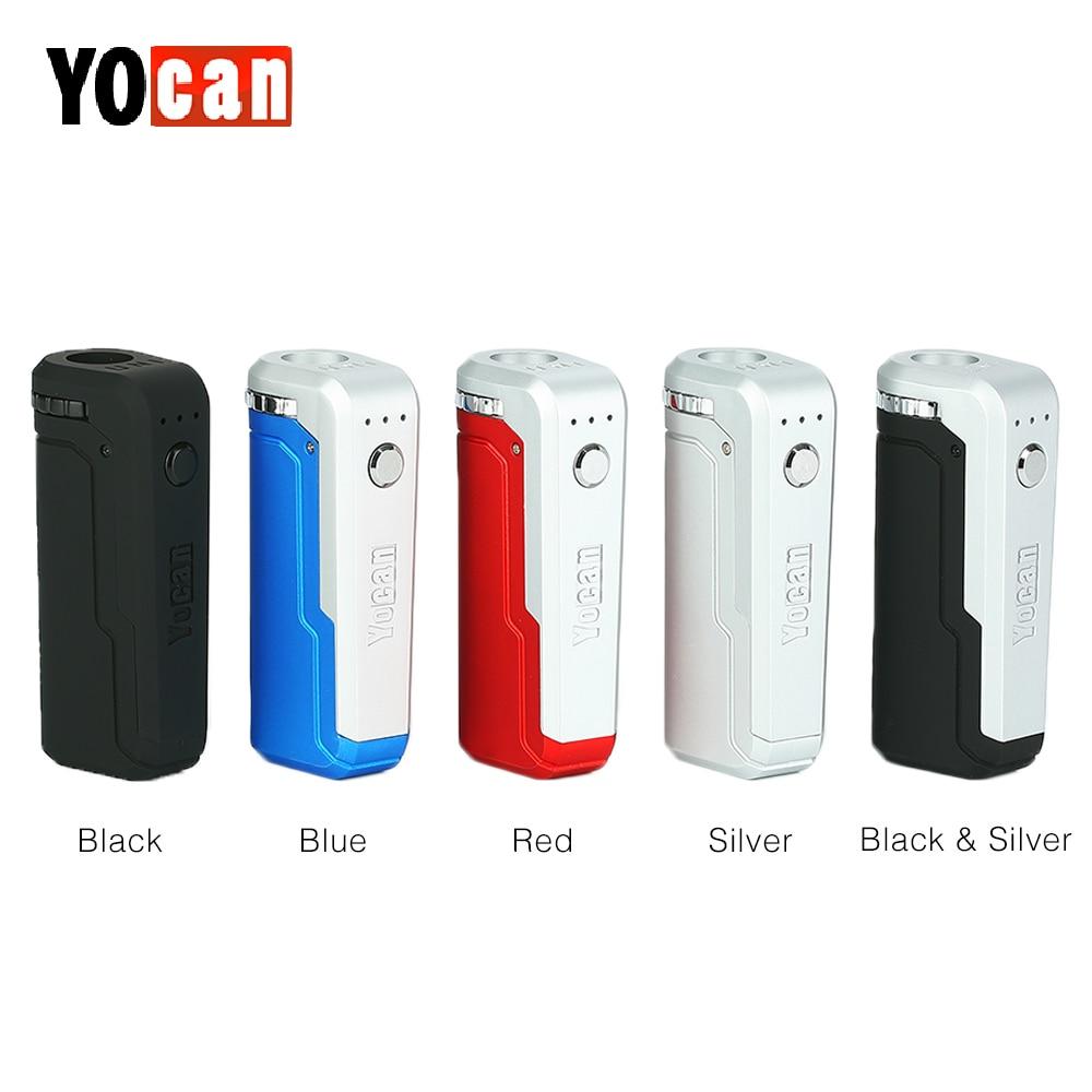 Caixa MOD com Bateria de 650 mAh Original Yocan UNI Se Adaptar A Qualquer Tipo de Óleo Atomizador Vape Cigarro Eletrônico mod E Cig