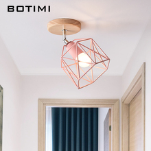 BOTIMI Modern LED Ceiling Lights With Metal Lampshade For Corridor Adjustable Ceiling Lamp Designer Bedroom Lighting E27 Lamps trazos adjustable ceiling lights corridor lamp metal led ceiling mount bulbs light e27 coffee bar lamps home lighting fixtures
