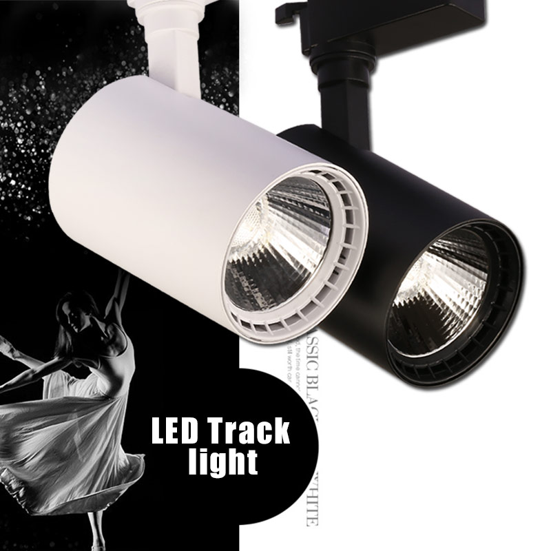 Adjustable 12W 20W 30W COB LED Track Light Spot Light Fixtures LED Lamp Ceiling Mounted Rail Track Lamp Decorative Led spotlight