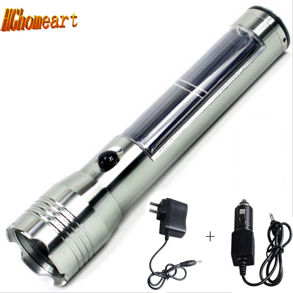 все цены на  Solar Zoomable 3 Modes Waterproof LED Flashlight 200lumens 3W led rechargeable flashlights high powered flashlight rechargeable  онлайн
