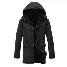 2017 Winter Men Winter Coat Long Sleeves Warm Thick Down Parka Men Male Long Winter Jacket Men Parka Christmas Coat