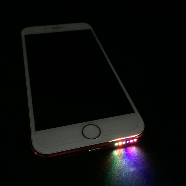 size 40 d6333 fb9dc SZYSGSD for iPhone Speaker LED Light Glow Night Cool Flash Light Sensor  Cable For IPhone 6 6plus 6s 6S PLUS 7 7 PLUS 8 led light