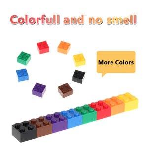 Image 3 - 2x2 Классические кирпичи, небольшие строительные блоки, креативные сборочные городские кирпичи, технические игрушки для детей, Comaptible блоки маленького размера