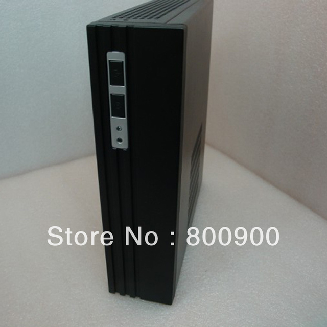 U.S. version Mini-ITX mainboard small chassis ion platform E350 Mini Car PC Black HD HTPC empty chassis
