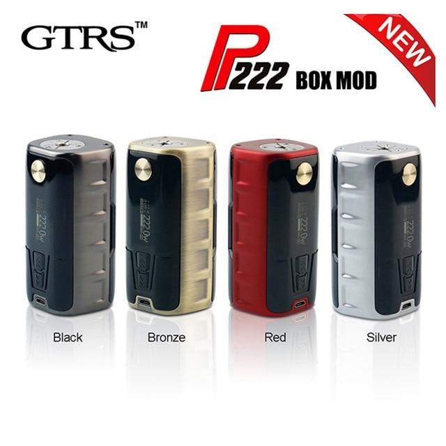 все цены на GTRS P222 222W high-end TC Box MOD Powered by dual 18650 batteries SS316 Ni200 Ti TCR mode Vape E-Cigarette Mods онлайн