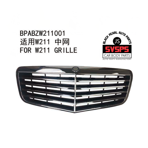 High Quality ABS Front Middle Grille For Mercedes W211 Benz E-CLASS E200 E240 E280 E300 2002-2008 Year seicane car optical fiber decoder most box bose for 2002 2012 mercedes benz e class w211 e200 e220 e230 e240 e270 e280 e300 e320