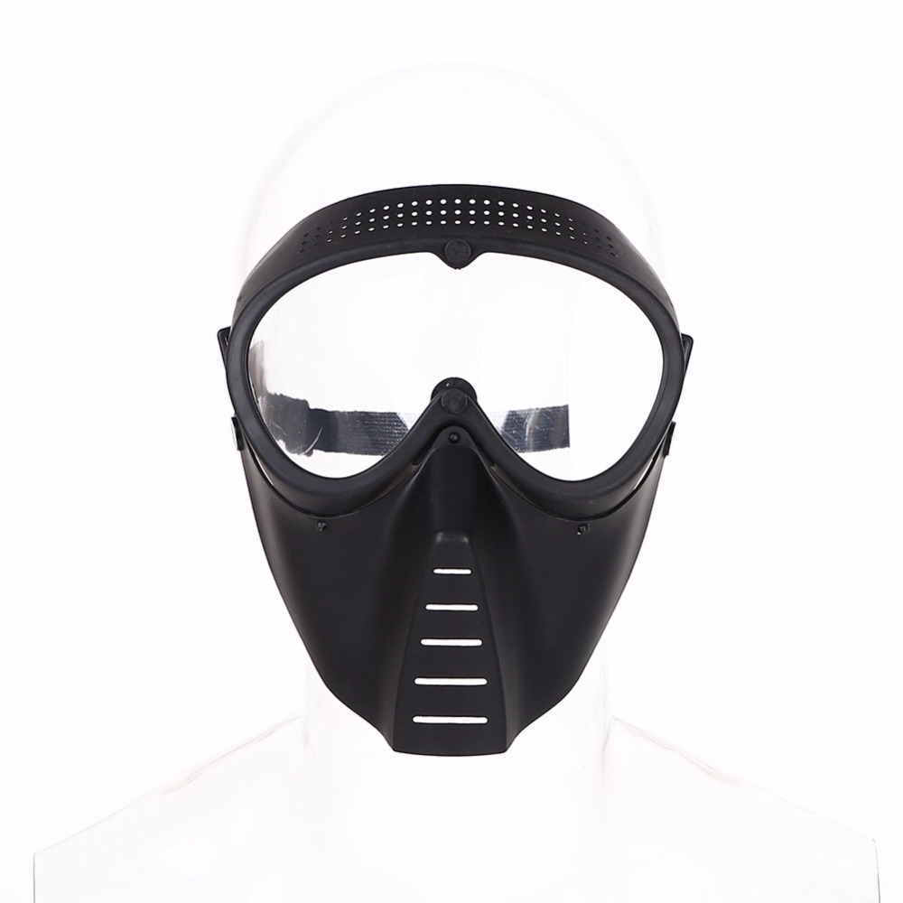 War Game Protective Mask Cs Game Competition Paintball Safety Mask Transparent Eyepiece Workplace Safety Supplies sw2009 tactic war game protective abs half face mask army green