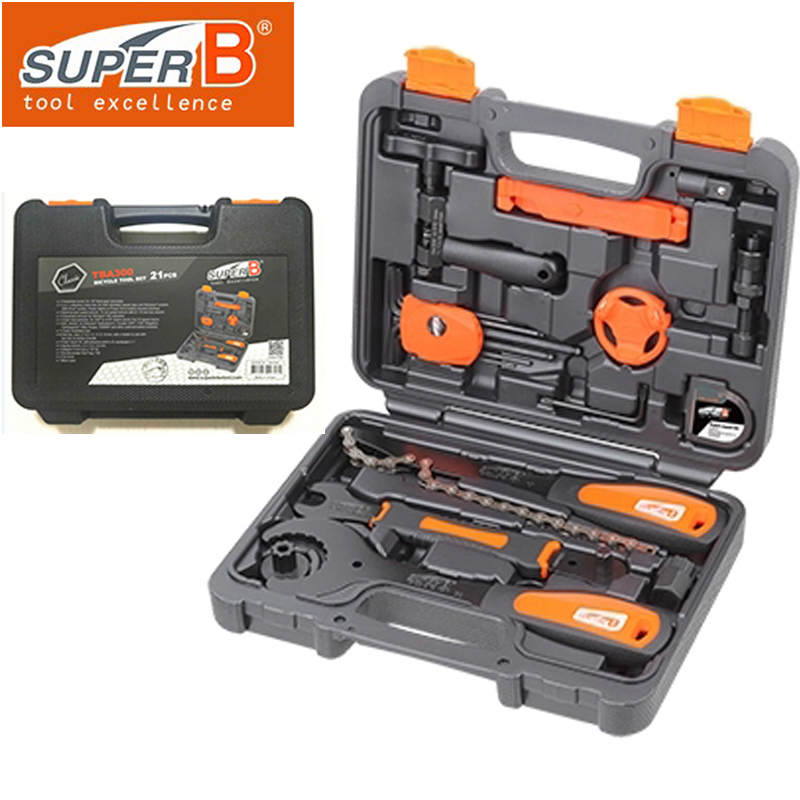 Super B Bicycle Repair Tool Kit  21 in 1 Bicycle Tool Set TBA-300 Professional Bicycle Tool Kits Multi-function Cycling Tools 147 pcs portable professional watch repair tool kit set solid hammer spring bar remover watchmaker tools watch adjustment
