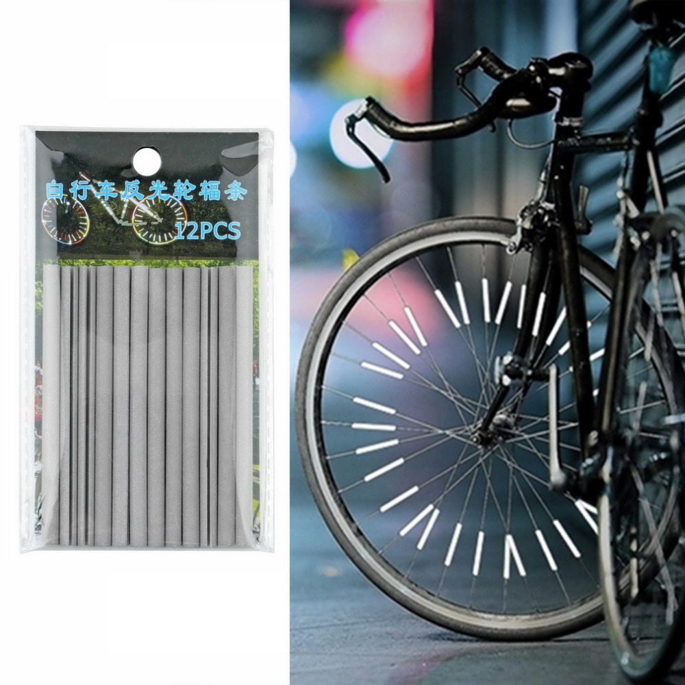 12pcs Cycling Wheel Spoke Reflector Bike Bicycle Reflective Mount Clip Tube NEW