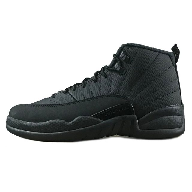 save off 9bc94 91b68 US $56.69 46% OFF|AIR US JORDAN 12 XII Men Basketball Shoes WNTR All Black  Gym Red the master University Blue GS Barons Flu Game Sport Sneaker-in ...