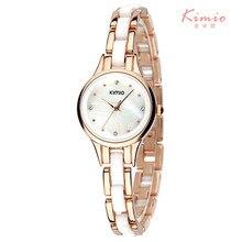 2016 Kimio reloj de lujo superior de la marca para las mujeres Del Rhinestone señoras de la moda analógica reloj de cuarzo-reloj montre femme femenino