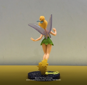 Image 2 - Disney Tinker Bell Princess Cartoon 20cm mini doll Action Figure Anime Mini Collection Figurine Toy model for children gift