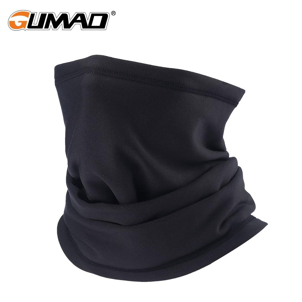 Black Outdoor Warmer Neck Gaiter Thermal Half Face Mask Fleece Tube Shield Cycling Skiing Snowboard Hiking Bandana Magic Scarf