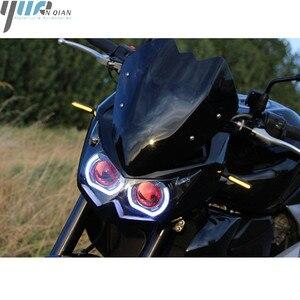 Image 3 - Turn Signal Light Flexible Moto LED lights Universal flashers motocross light for yamaha YZF R1 R6 R125 FOR Honda GROM MSX125