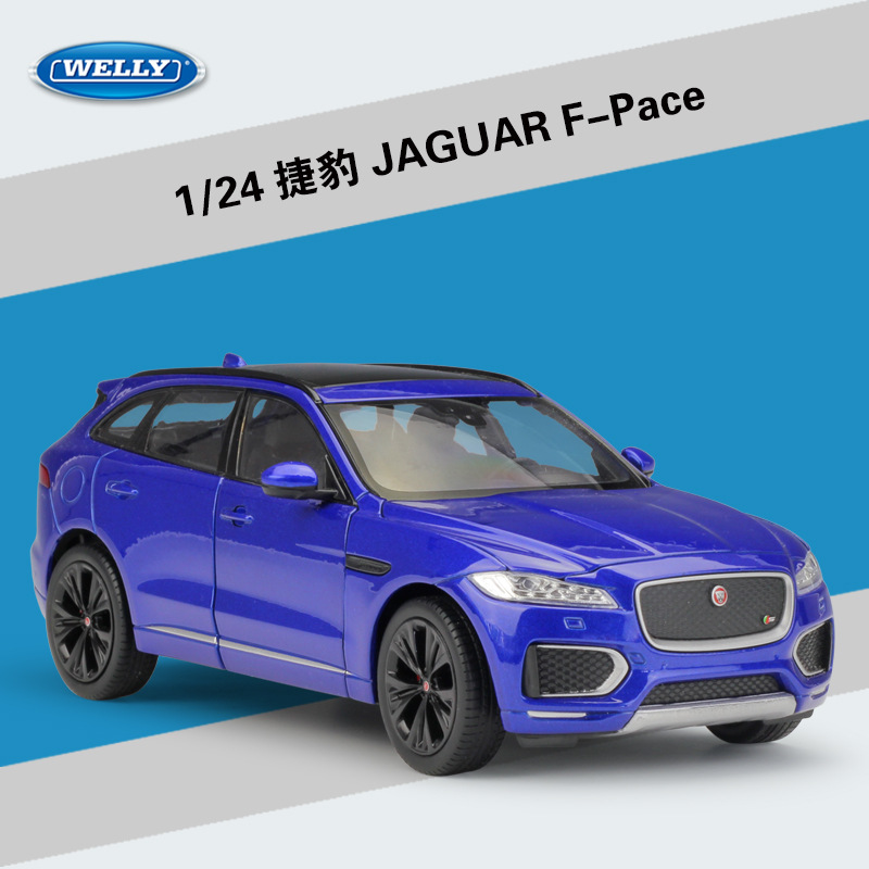 WELLY 1:24 High Simulation Classical Diecast Vehicle JAGUAR FPace SUV Metal Alloy Car Model For Children Gift Toy Car Collection