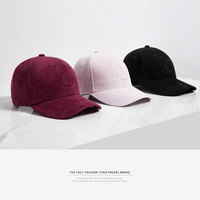 INFLATION 2017 New Arrivals Black Adjustable Solid Color Baseball Cap Unisex Couple Cap Fashion Leisure Casual