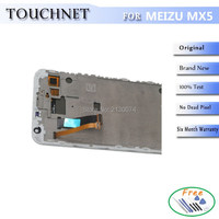 Original 2Pcs Lot HD Screen Display Touch Panel Digitizer Replacement For Meizu MX5 Cellphone