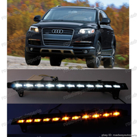 1 Set Car LED DRL Daytime Running Light Lamp With Yellow Flicker Turn Signals For Audi