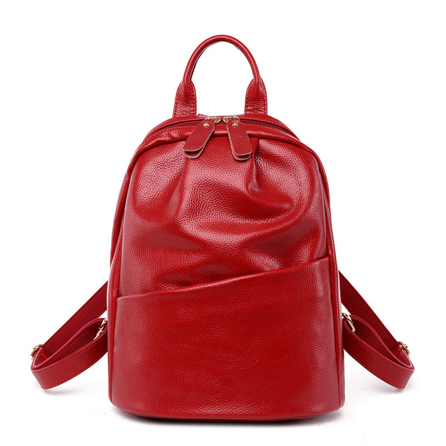 Women Backpack Genuine Leather Backpack Women 2017 Hotsale School Bags for Teenagers Fashion Backpacks for Teenage Girls