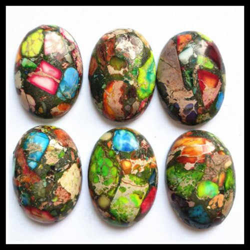3pcs Natural imperial jaspser Stone Cabochon Beads accessories jewelry base parts 13x18mm 15x20mm 18x25mm 30x40mm oval shapes