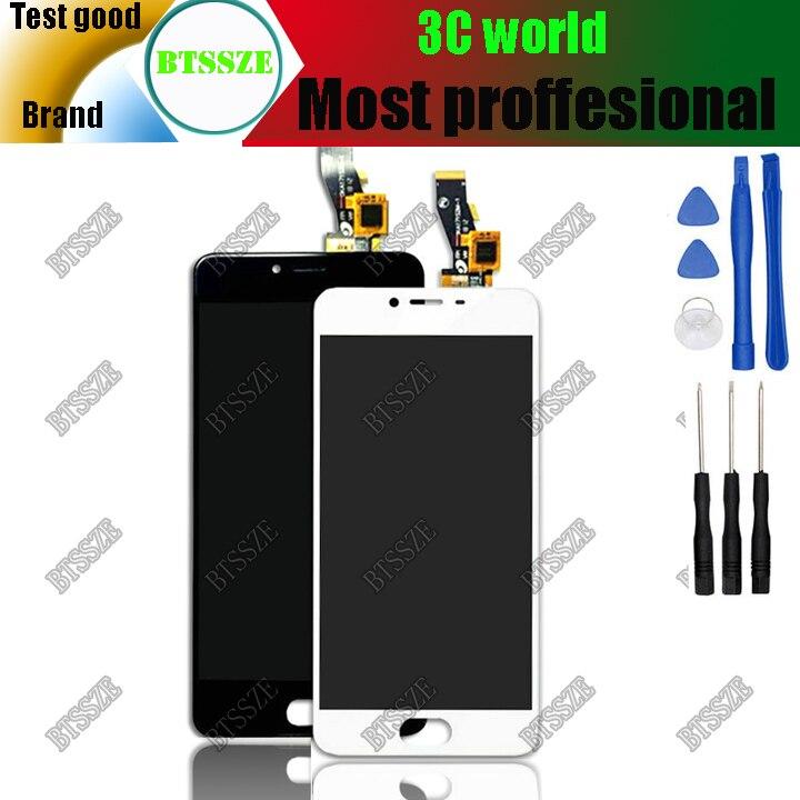 imágenes para BTSSZE negro blanco Para Meizu M3 mini LCD Display + Touch Screen Asamblea con herramientas de Alta Calidad 5.0 pulgadas templado glasss