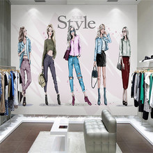 Custom Photo Wallpapers 3D Stereoscopic Fashion Girls Murals Cartoon Pattern Wall Papers for Living Room Sofa Home Decorative cartoon animals children wallpapers 3d murals custom photo wallpapers for living room bedroom wall papers home decor kids room