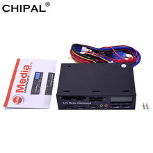 CHIPAL-Panel frontal multifuncional USB 3,0, tablero multimedia de 5,25
