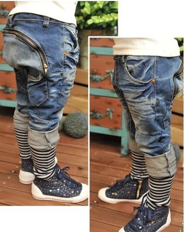Free shipping Casual pants jeans autumn boy's denim pants top quality baby boy pants wholesale and retail XMZ045