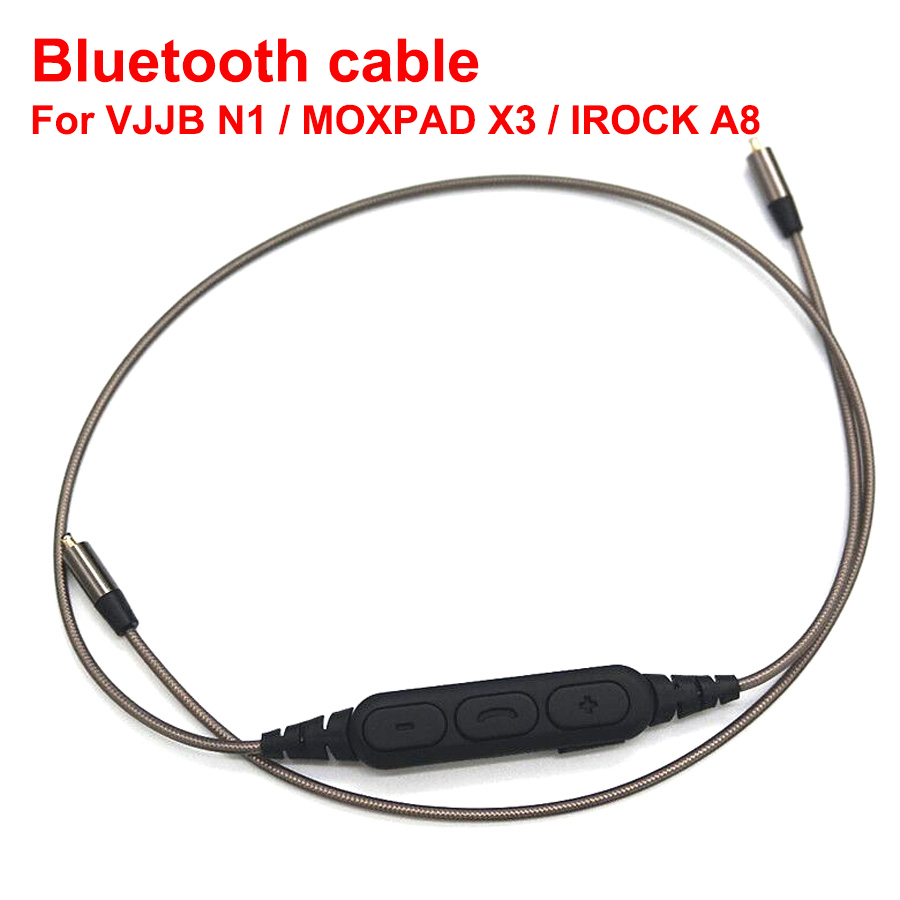 Upgraded Replacement Bluetooth L for VJJB N1 Earphone Headphone with Mic replacement cable for MOXPAD X3 IROCK A8