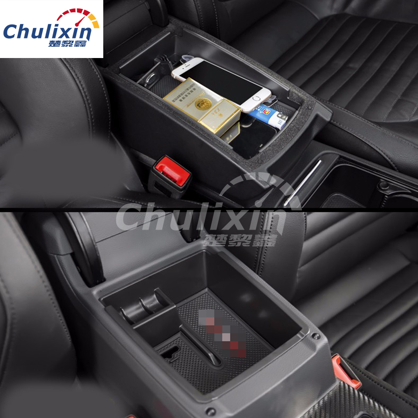 1PC Car Central Armrest Storage Box Car accessories For VW Volkswagen Passat B8 B 8 Sedan Variant Alltrack 2015 2016 2017