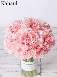 Flowers Peony Wedding Bouquet Bride Faux Artificial-Silk Living-Room Home-Decoration