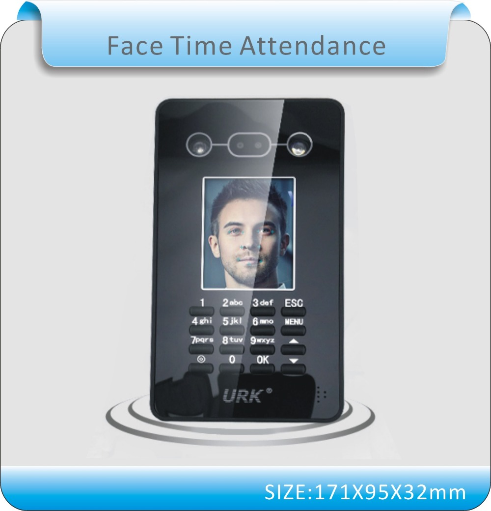 Newest URK English Ver Facial Recognition Face Detection Time Recording Attendance System U Disk