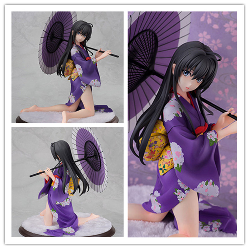 ФОТО [PCMOS] Japanese Anime My Teen Romantic Comedy Yukino Yukinoshita Kimono 1/6 PVC Figure 18cm/7inch Model Toy New In Box 9044