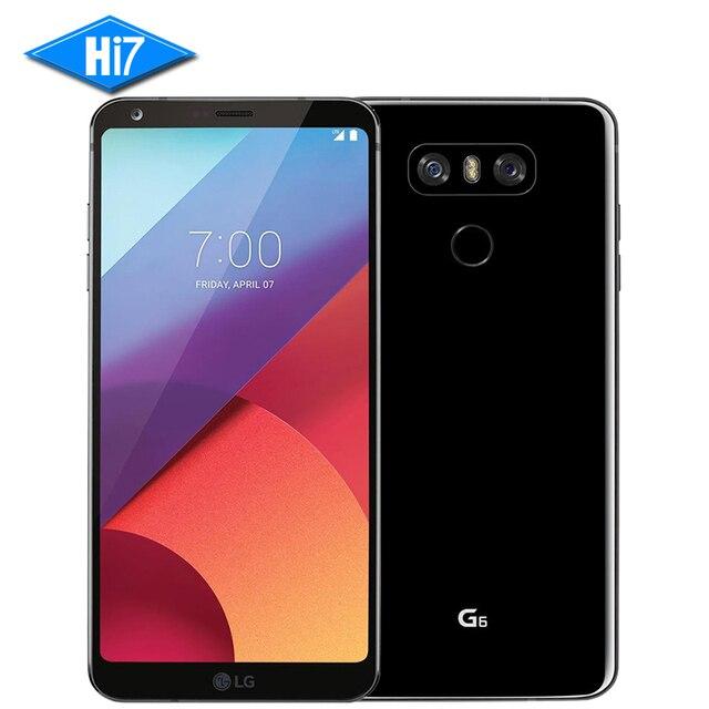 """2017 новый оригинальный lg g6 мобильный телефон 4 ГБ ram 64 ГБ rom Snapdragon 821 Dual SIM Quad-core Dual 13MP Камера 4 Г LTE 5.7 """"смартфон"""